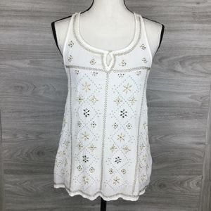 Abercrombie & Fitch Beads And Stone Accent Top